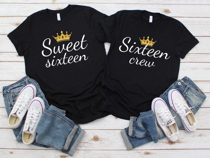 16th birthday queen shirt sixteen crew shirt birthday