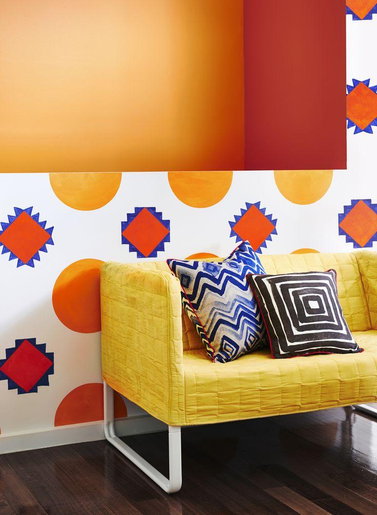 Mod Haus- Get the Look, Dulux Paints #orangekeeper #lexiconhalf #hotembers #goldenrod #regalia