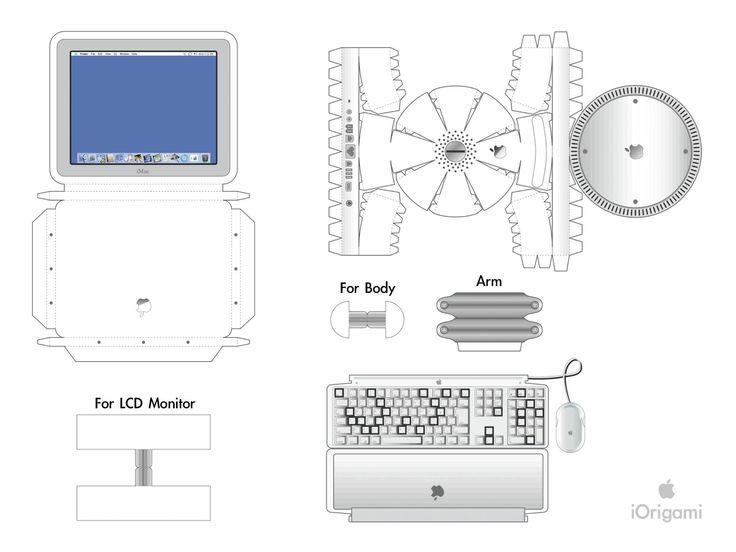 Apple I Mac Paper Toy