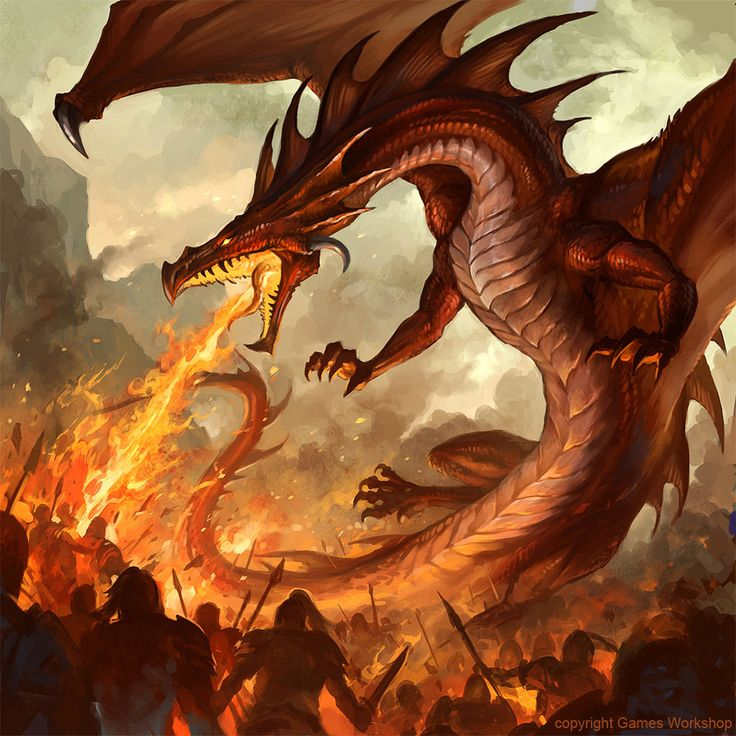 A digital painting of a fire breathing dragon by fantasy artist Sandara http://mayhemandmuse.com/the-fantasy-fan-art-of-sandara/#