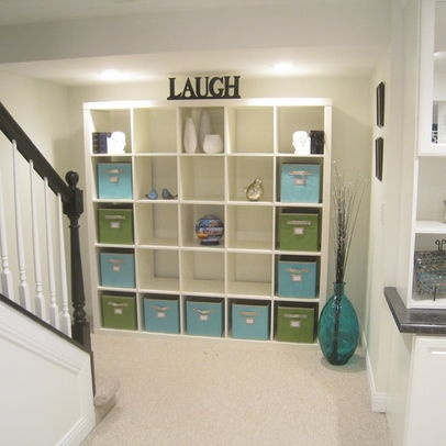 Basement photos basement decorating themes design for Basement storage ideas