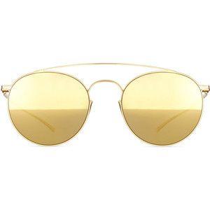MYKITA + Maison Margiela Round Stainless Steel Double-Bridge Sunglasses