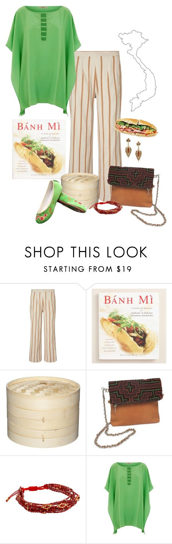 """""""Cookbook couture v18"""" by jennifertrimble ❤ liked on Polyvore featuring Jigsaw, Cost Plus World Market, NOVICA, Chan Luu and Lazul"""