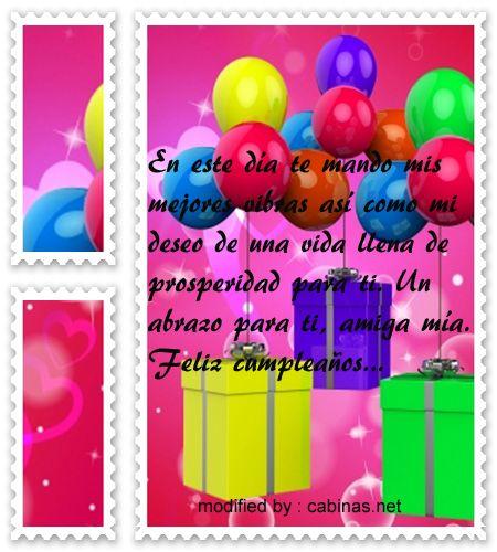 originales mensajes para enviarle saludos de cumpleaños a mi amiga,nuevas frases para enviarle a tu amiga por su cumpleaños