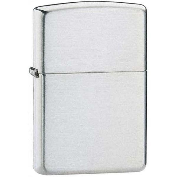Zippo Armor Brushed Finish Sterling Silver Lighter