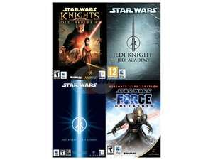 Prices after promo code EMCPEPH93  LucasArts Power Pack (PC Digital Download) $11.24 Includes Knights of the Old Republic Jedi Knight: Jedi Academy Jedi Knight II: Jedi Outcast The Force Unleashed: Ultimate Sith