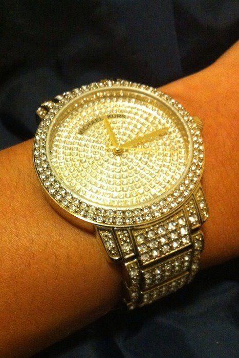 michael kors watch. diamonds everywhere.