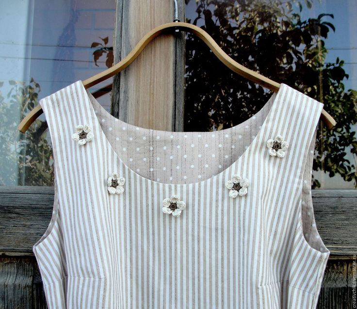 Купить Платье летнее, хлопковое - в полоску, платье, платье для лета, платье хлопок, натуральные материалы