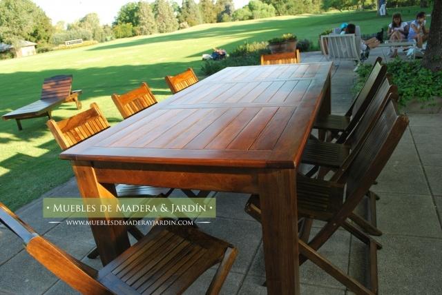 18 best Muebles de Jardin images on Pinterest | Timber table ...