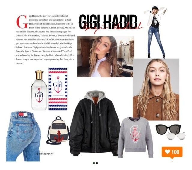 @gigihadid Style ❤️ #tommyxGigi by jessicazwennis on Polyvore featuring polyvore, fashion, style, Tommy Hilfiger, Gentle Monster, Victoria Beckham and clothing