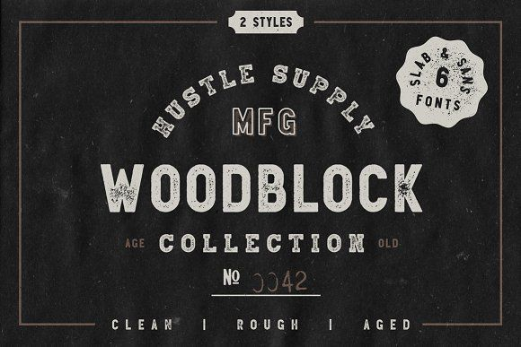 Woodblock Collection - Sans & Slab - Display