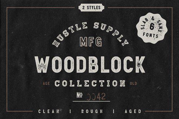 Woodblock Collection - Sans & Slab - Display