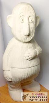 Fehér terrakotta kerti szobor, mesefigura