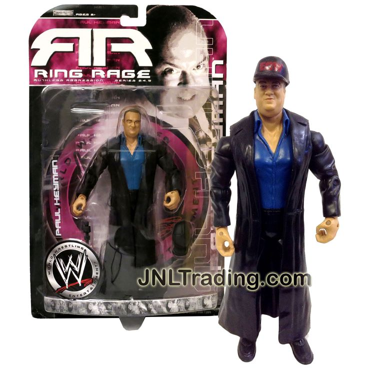 Jakks Pacific Year 2006 World Wrestling Entertainment WWE Ring Rage Series 7 Inch Tall Figure - PAUL HEYMAN with Baseball Cap and Microphone