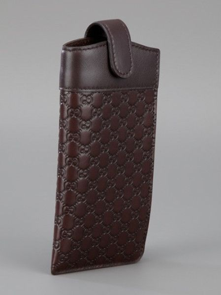 Glasses Case Gucci Monogram Glasses Case In Brown For