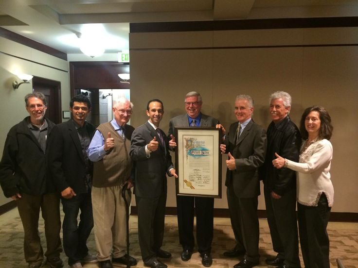 LA City Councilmember Mitchell Englander (District 12) honors Richard Hilton of the Museum of the San Fernando Valley at the February 5 meeting.  District 2 Councilmember Paul Krekorian joined in the commendation as well!