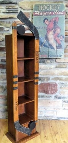 Hockey Floor Shelf | DVD Storage | Hockey Decor | A Simpler Time | A Simpler