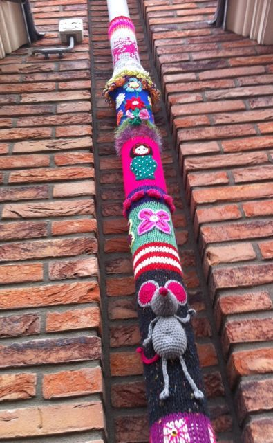ao with <3 / wilderness crochet the detail in the piece of yarn bombing is very cute and worth a mention,good effort,bomber command....knit away