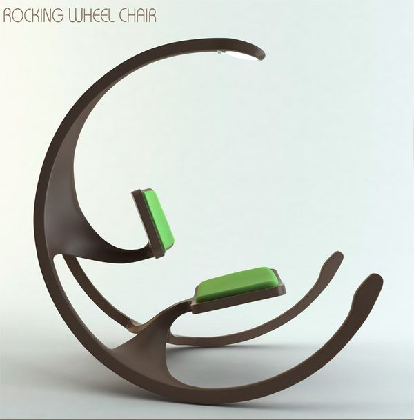 Rocking Wheel Chair by Mathias Koehler, via Behance