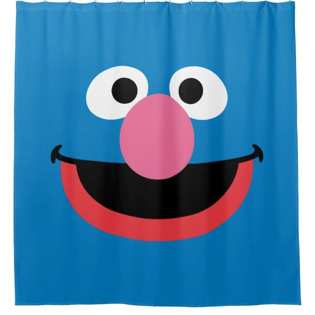 Grover Face Art Shower Curtain Zazzle Com With Images Face