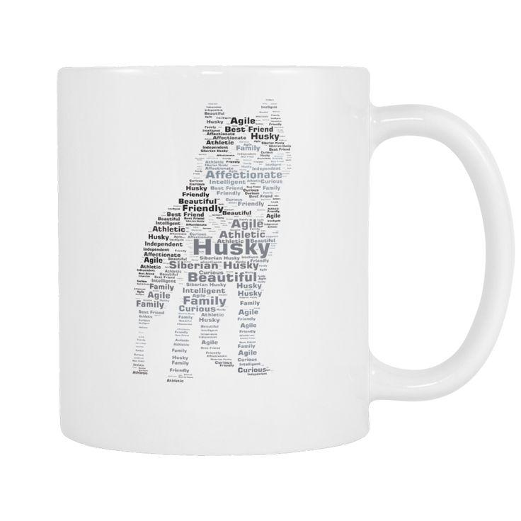 "Custom made design. 11 oz white ceramic coffee mug. 3.75"" diameter. The perfect gift for any dog lover!"