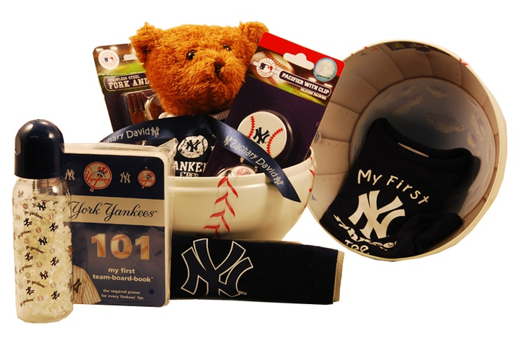 Baby Gift Baskets New York : Best images about gifts for new york yankees fans on