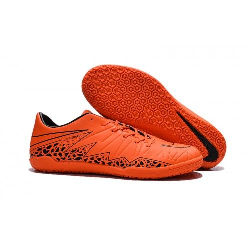 Chaussure de football Nike Hypervenom Phelon II IC noir orange pas cher