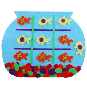 !!!!♥ Feltro-Aholic ♥ Moldes e pap em feltro e feltro estampado!: Molde e pap Jogo da Velha no Aquário com peixinhos