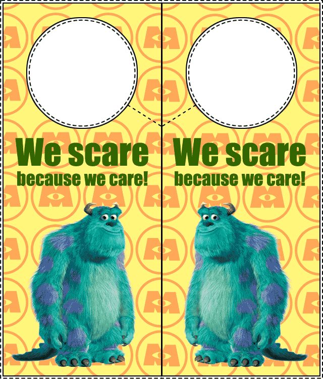 Monsters, Inc. Door Hangers 1-Print It