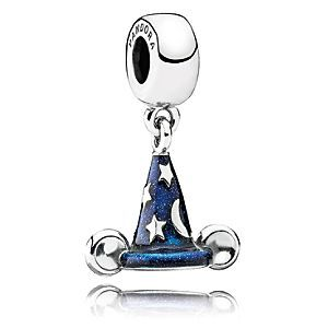 Mickey Mouse ''Mickey's Sorcerer's Hat'' Charm by PANDORA | Disney Store Inspired by the animated movie <i>Fantasia</i> and the famous sorcerer's hat, this dangle charm represents an exhilarating belief in magic and making the impossible possible.