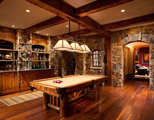 Pin by Lorie Soderberg on Log home basement   Game room ...
