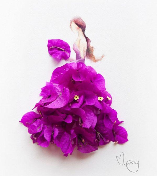 Рисунки из акварели и цветов