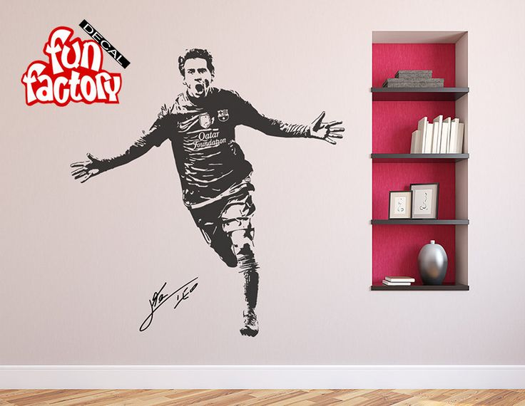 Lionel Messi Wall Decal Sticker FC Barcelona Football Soccer Player Argentina Leo 0021s by FunDecalFactory on Etsy