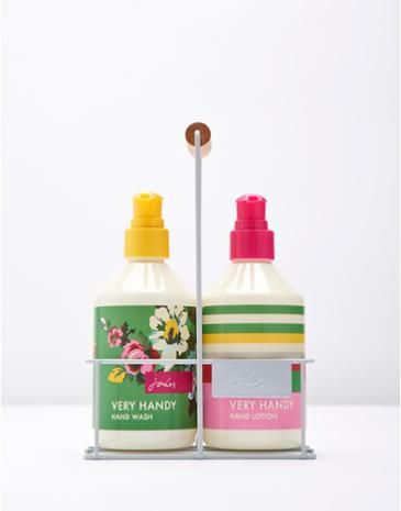 An essential addition to any bathroom. Hand wash and hand lotion from Joules.