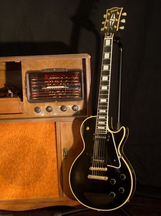1956 Gibson Les Paul Custom- Makes me think of my brother Tim which puts a huge smile on my face even though there's a hole in my heart.