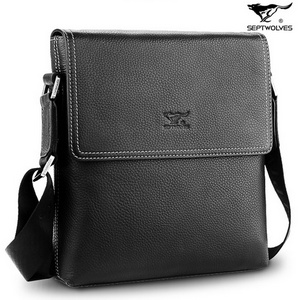SEPTWOLVES Top Grade Leather Business Shoulder Bag for Men - $339.00 : BAGSTORM, Backpack for students, fashion bags for women, suitcase for men