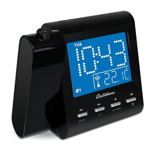 Electrohome Projection Alarm Clock with AM/FM Radio, Battery Backup, Auto Time Set, Dual Alarm, Sleep Timer, Indoor Temperature/Day/Date Display with Dimming & Audio Input for Smartphones (EAAC601) http://www.discountbazaaronline.com/2015/12/11/electrohome-projection-alarm-clock-with-amfm-radio-battery-backup-auto-time-set-dual-alarm-sleep-timer-indoor-temperaturedaydate-display-with-dimming-audio-input-for-smartphones-eaac601/