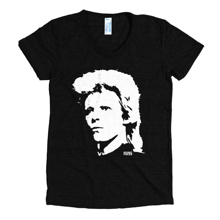 David Bowie Womens Tshirt, Personalized Womens Shirts, Ziggy Stardust, Tri Blend T Shirts, Gifts For Sister, Gift For Wife, Girlfriend Gift by MONOFACESoADULT on Etsy