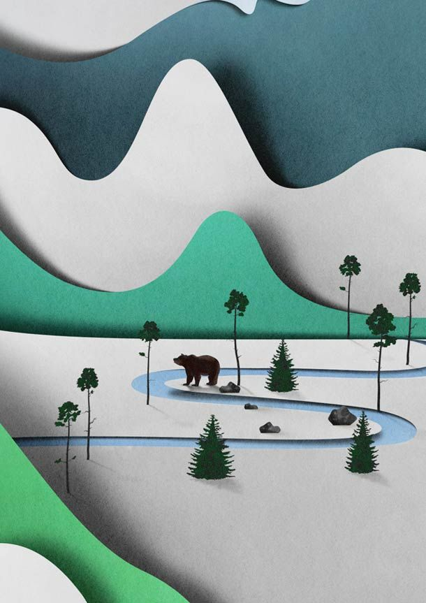 The beautiful creations of Estonian artist Eiko Ojala, mixing with a lot of talent the art of paper, hand drawing,