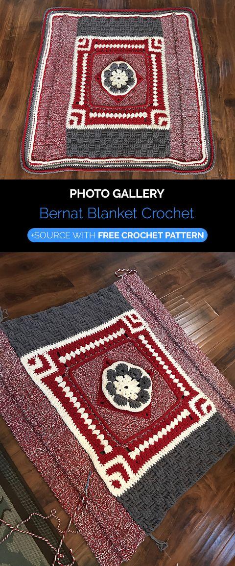 Bernat Blanket Crochet | Blanket Free Crochet Patterns en 2018 ...