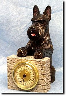 Scottie Mantel Clock