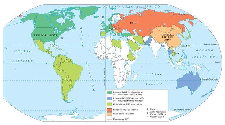 22. La división del mundo en bloques, hacia 1965