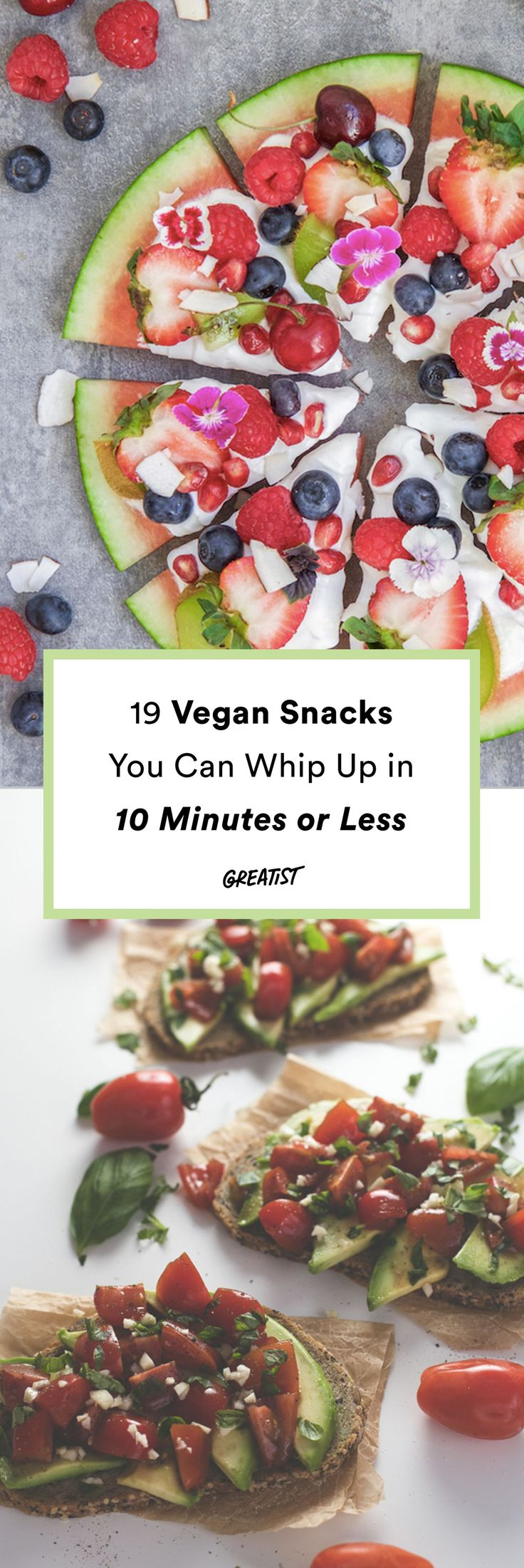 Because nobody can wait longer than that when they're hangry.  #greatist https://greatist.com/eat/vegan-snacks-to-make-in-10-minutes-or-less