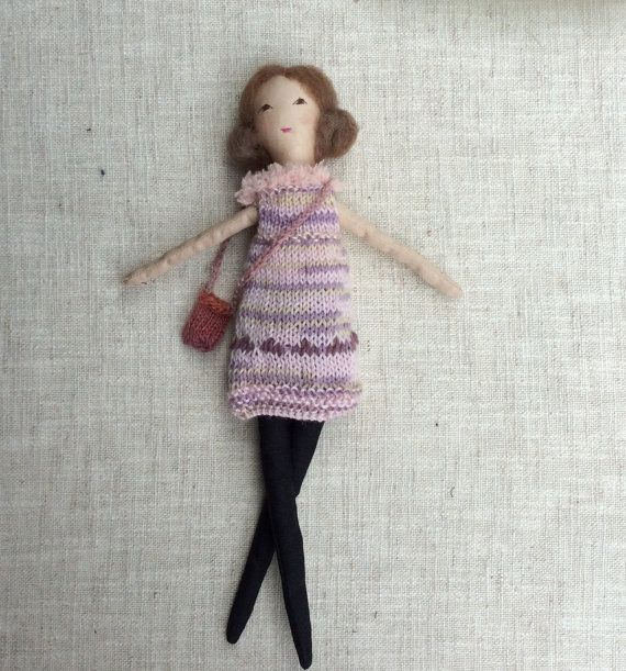 Fabric dollDress up doll Fashion doll doll set play by Dollisimo