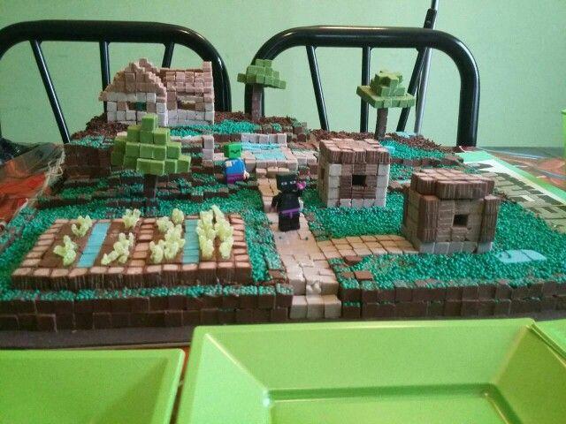 Torta de villa de minecraft