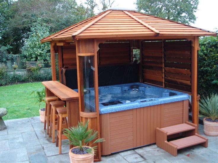 Top 25 best hot tub bar ideas on pinterest hot tubs for Diy hot tub gazebo