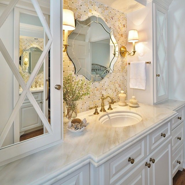 A bathroom remodel from about 8 years ago. #timelessdesign #traditionalhome…