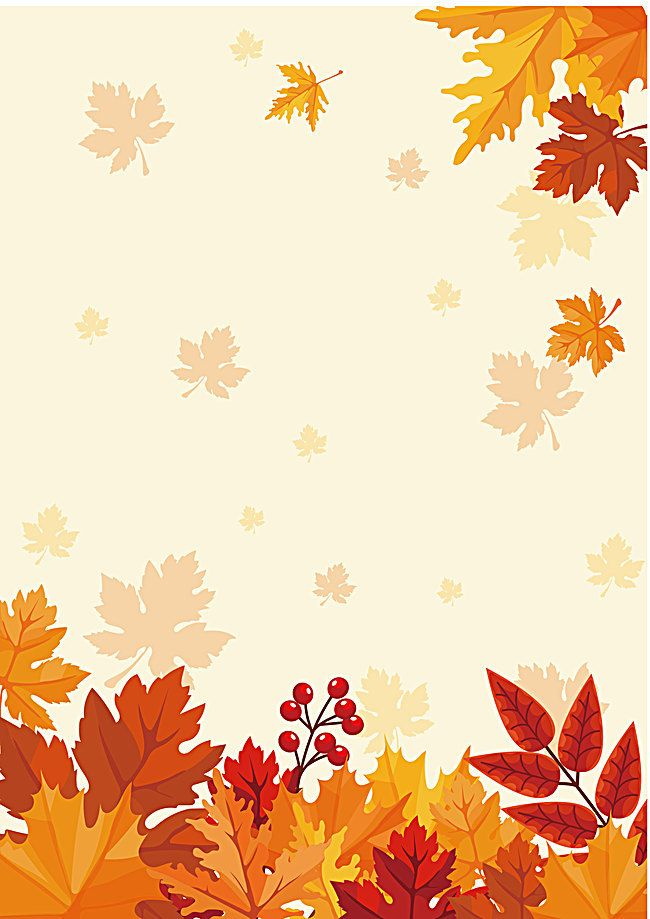 Fall Poster Background Material Autumn Leaves Wallpaper Fall Wallpaper Fall Leaves Background