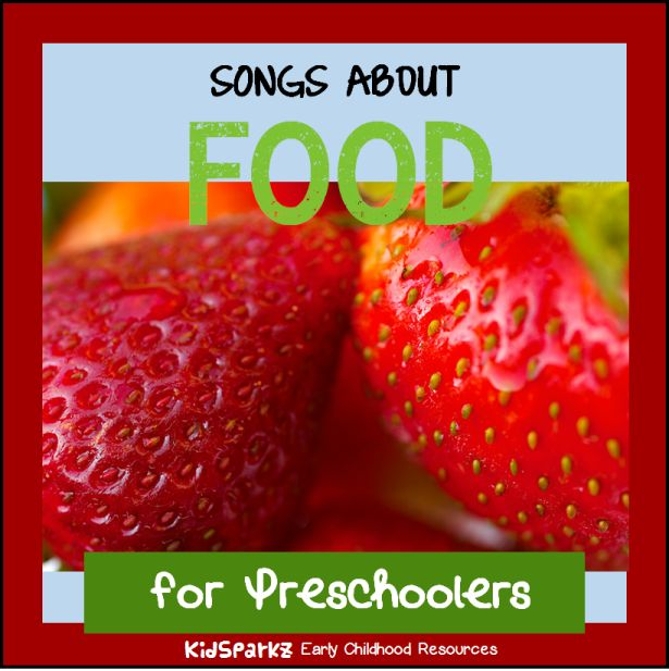 This is a collection of children's songs and rhymes about FOOD, for preschool and Kindergarten teachers, childcare providers and parents.
