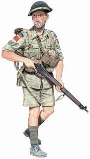 BELLUMARTIS HISTORIA MILITAR: INFANTES CANADIENSES EN ITALIA, 1943  Cabo, Royal 22e Régiment, Italia, 1943. Único regimiento formado solo por francófonos  Durante los veranos en el sur de Italia, los canadienses llevaban uniformes   tropicales como el resto del 8º Ejército Británico  Ilustración de Ron Volstad